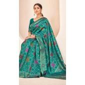 ROTRT1124-127643 Teal Green color Designer Party Wear Banarasi Silk Saree
