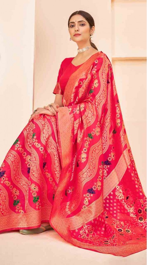 ROTRT1124-127644 Pink color Designer Party Wear Banarasi Silk Saree