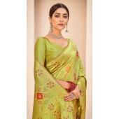 ROTRT1124-127647 Pista Green color Designer Party Wear Banarasi Silk Saree