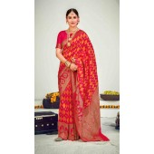 ROTRT1125-127649 Rani Pink color Designer Party Wear Banarasi Silk Saree