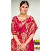 ROTRT1125-127651 Dark Pink color Designer Party Wear Banarasi Silk Saree