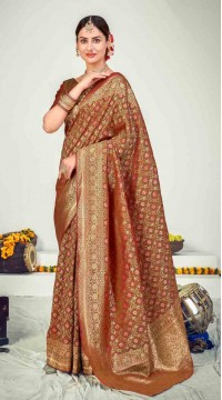 ROTRT1125-127654 Multi color Designer Party Wear Banarasi Silk Saree
