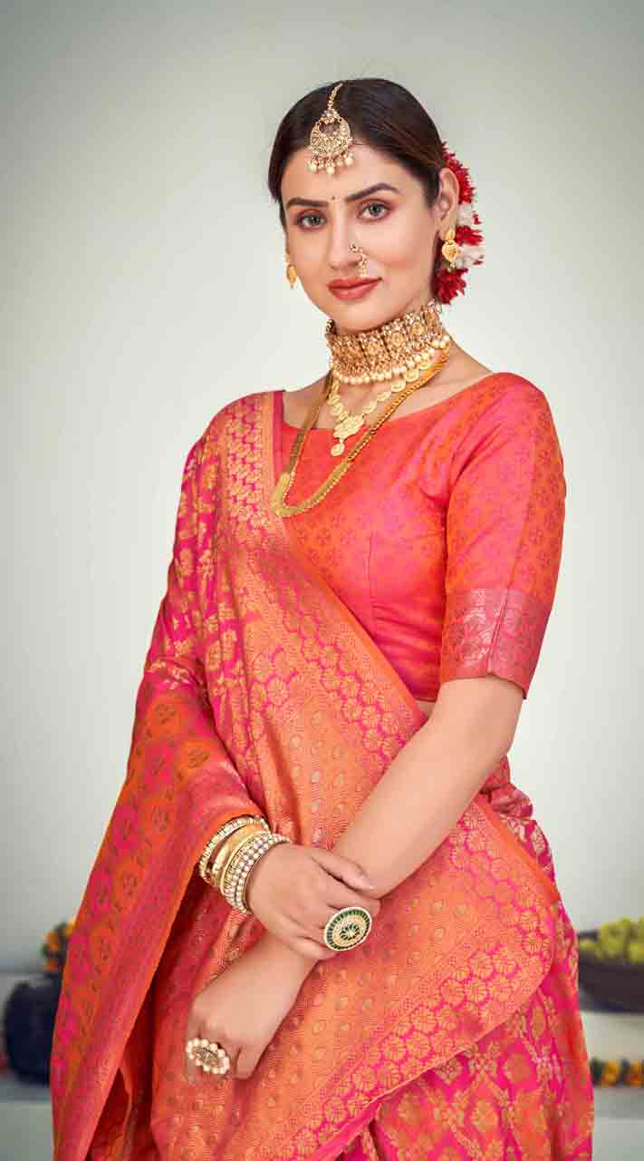 ROTRT1125-127655 Multi color Designer Party Wear Banarasi Silk Saree