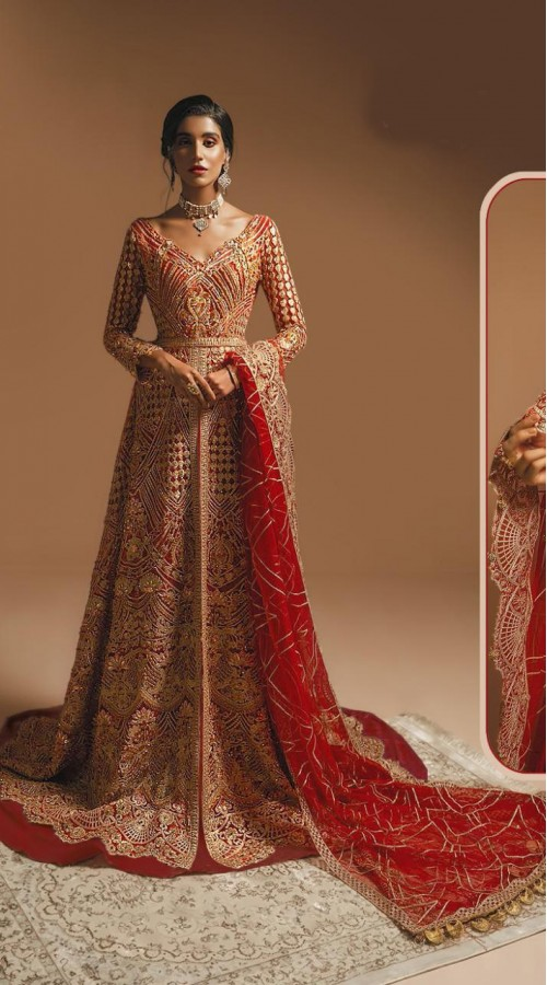 Designer Party Wear Pakistani Style Salwar suit in Red color ROT9234109396