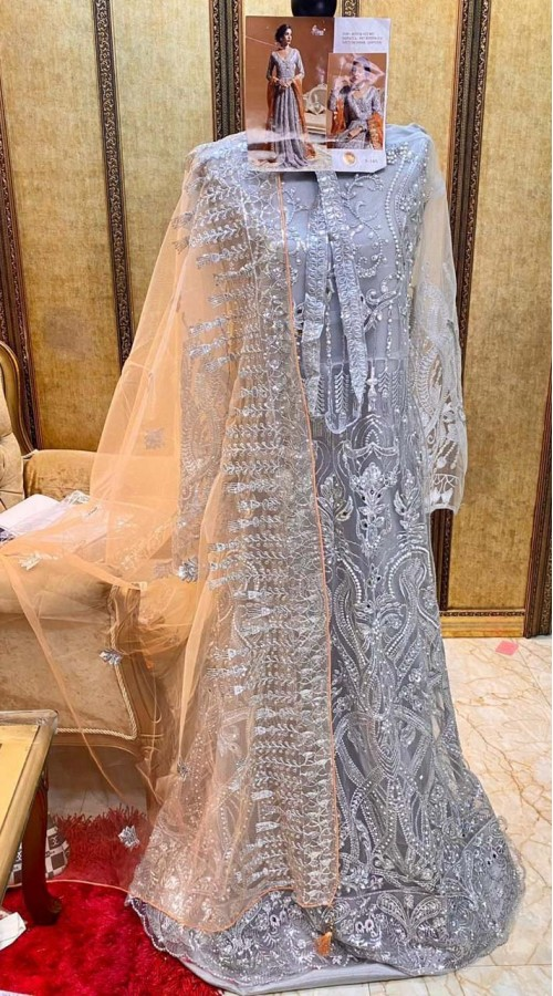 Designer Party Wear Pakistani style salwar suit in Grey color ROT9249109605