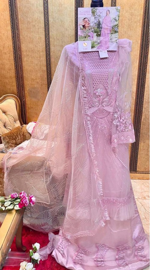 Designer Party Wear Pakistani style salwar suit in Light Pink color ROT9249109606