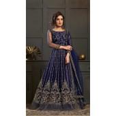 Bridal Designer Party wear Net Suite in Blue color ROT9261109691