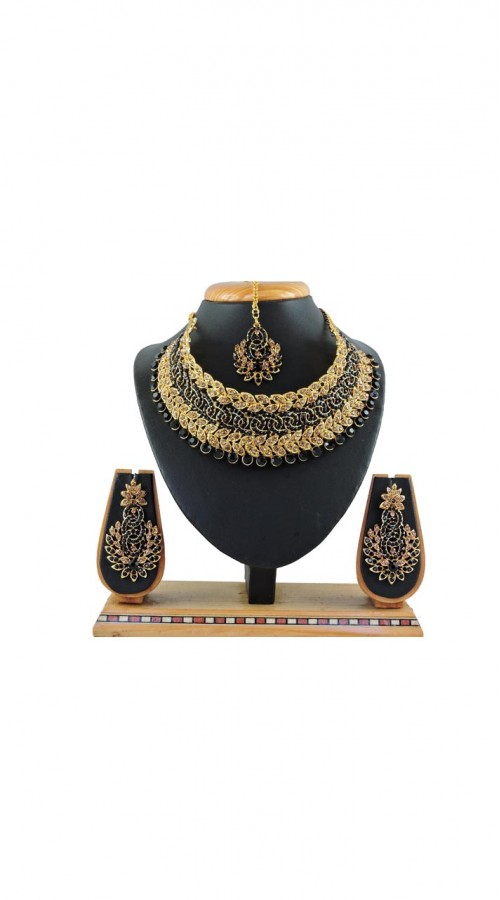 Imitation Black Jewellery Necklace Set ROT9296109983