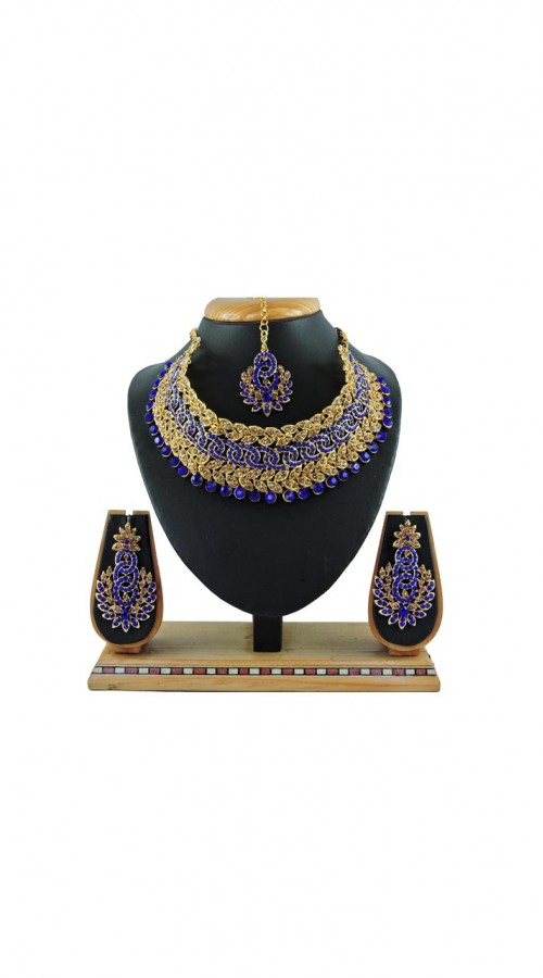 Imitation Blue Jewellery-Necklace Set ROT9296109984