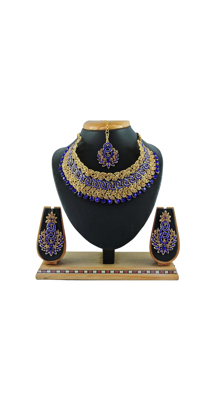 Imitation Blue Jewellery-Necklace Set ROT9296109984