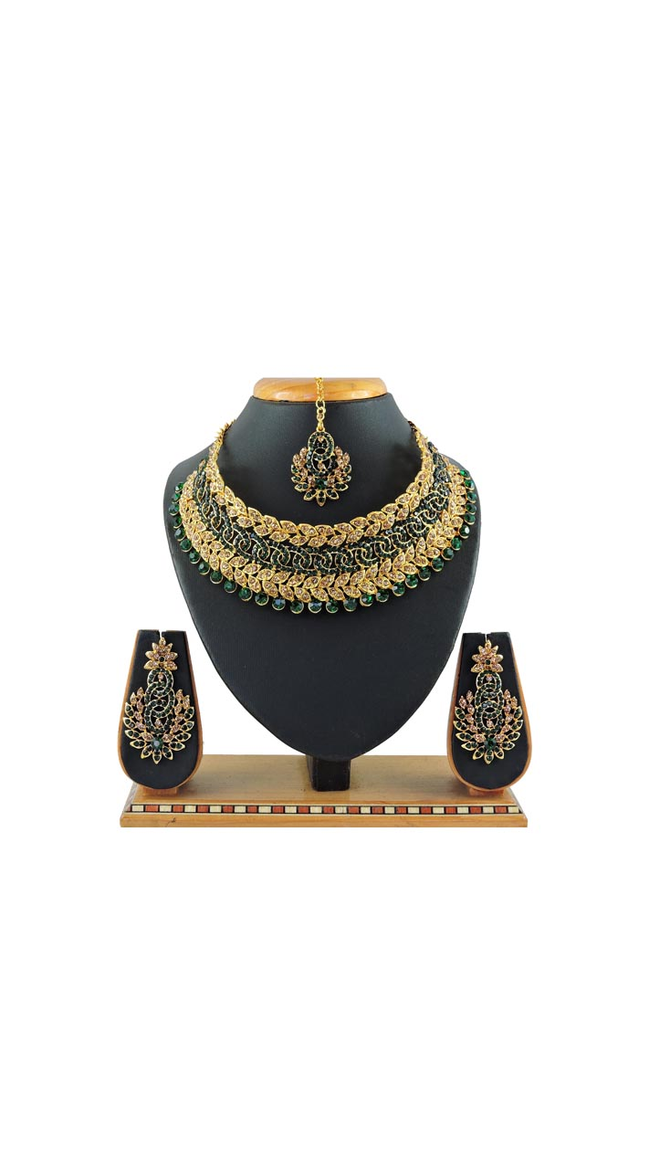 Imitation Green Jewellery-Necklace Set ROT9296109985