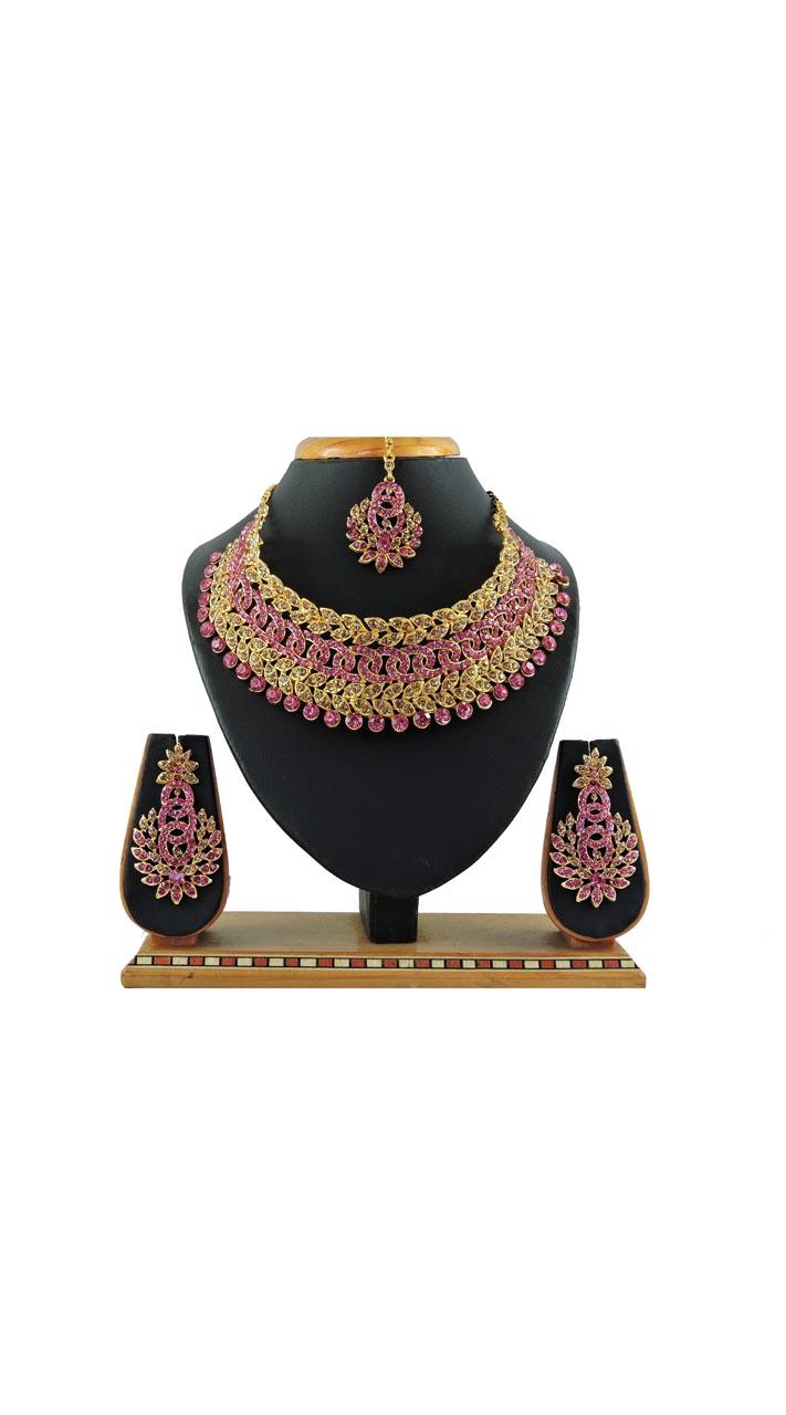 Imitation Pink Jewellery-Necklace Set ROT9296109986