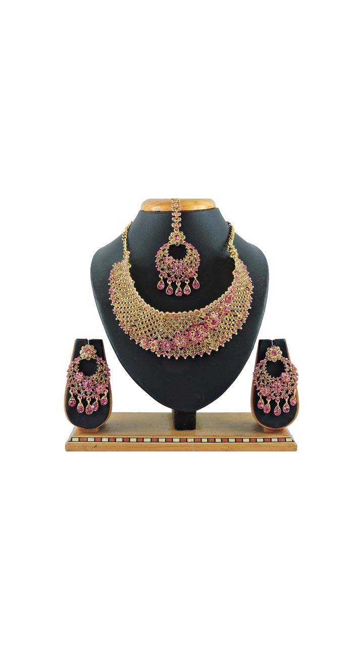 Imitation Pink Jewellery-Necklace Set ROT9296109987