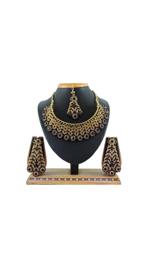 Imitation Black Jewellery-Necklace Set ROT9296109988