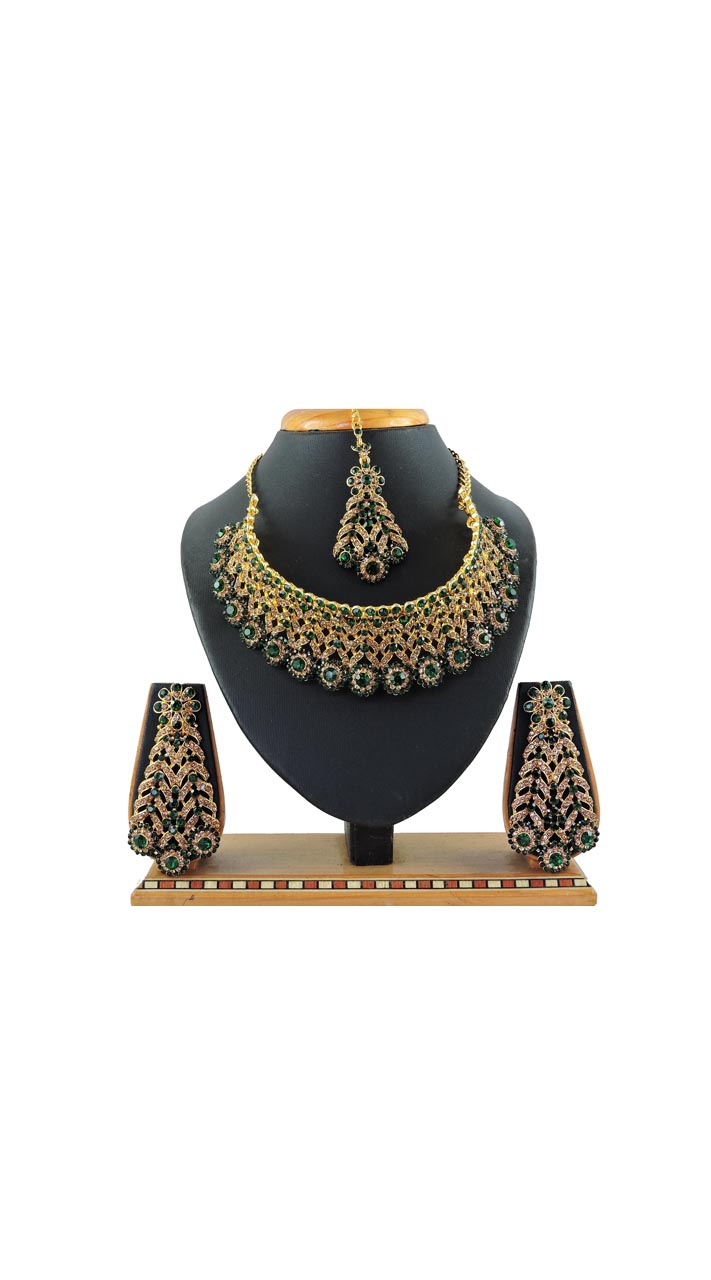 Imitation Green Jewellery-Necklace Set  ROT9296109989