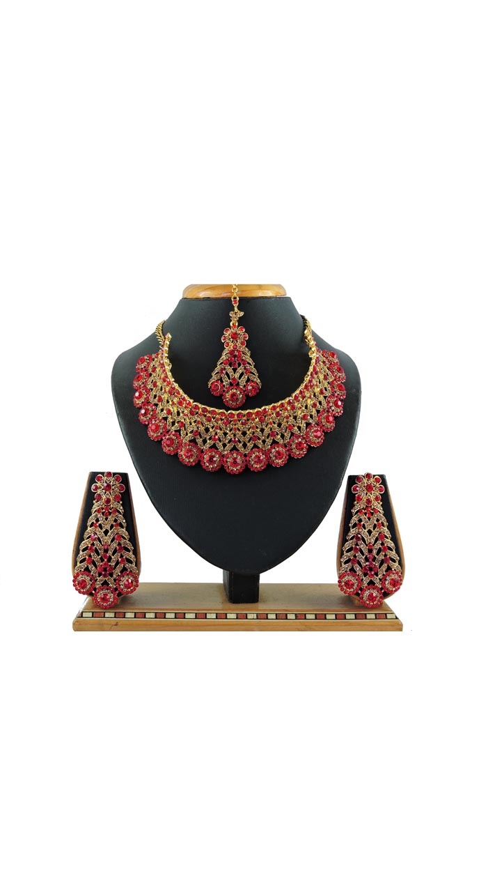 Imitation Red Jewellery-Necklace Set ROT9296109990