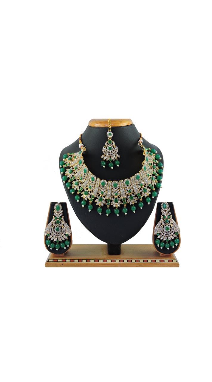 Imitation Green Jewellery-Necklace Set  ROT9296109992