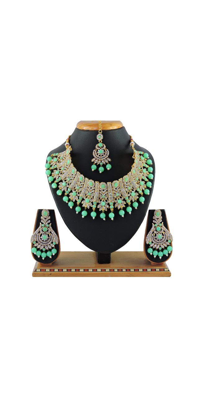 Imitation Light Green Jewellery-Necklace Set ROT9296109993