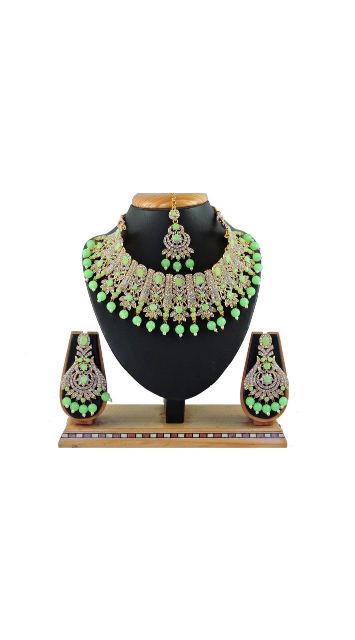 Imitation Mint Green Jewellery-Necklace Set ROT9296109994