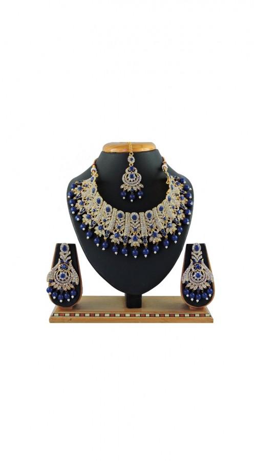 Imitation Blue Jewellery-Necklace Set ROT9296109995