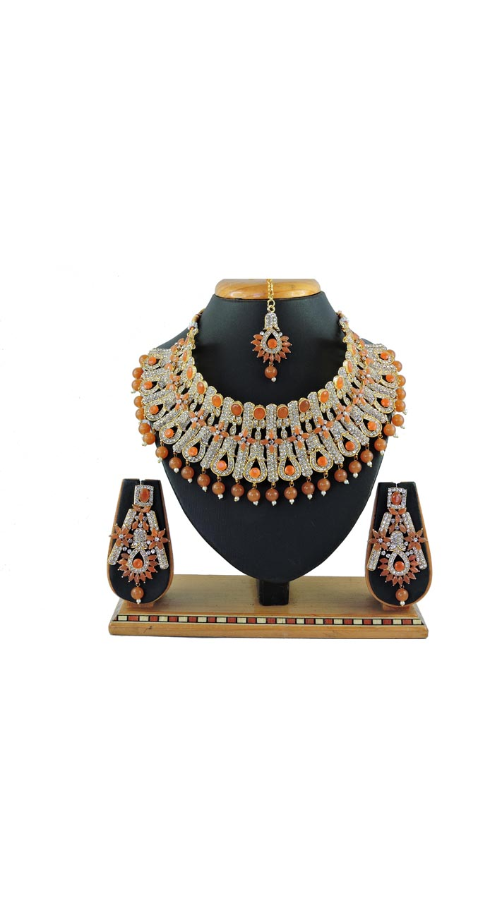 Imitation Brown Jewellery-Necklace Set ROT9296109997