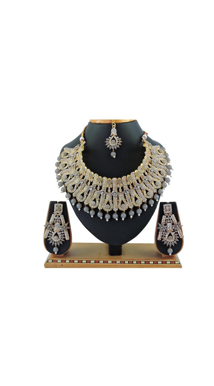 Imitation Grey Jewellery-Necklace Set ROT9296109999