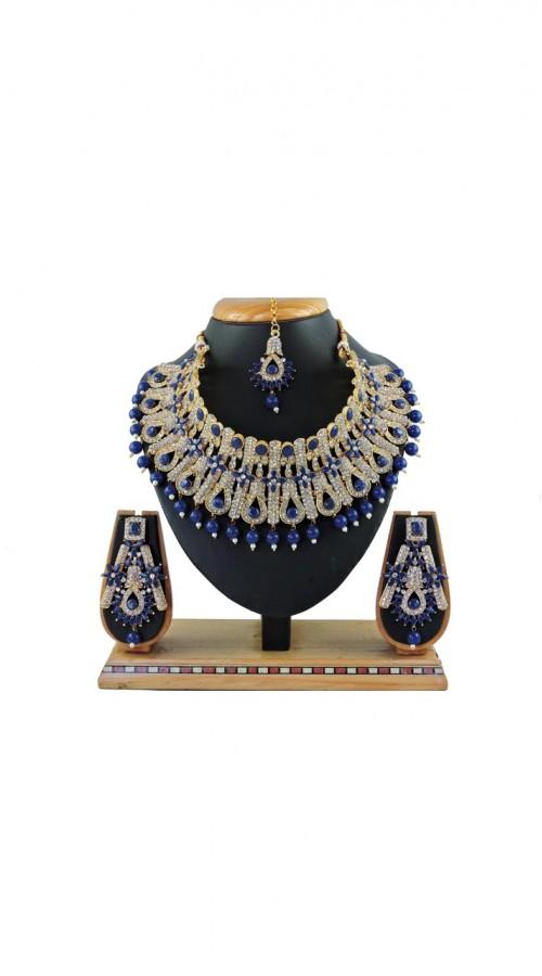 Imitation Blue Jewellery-Necklace Set ROT9296110002