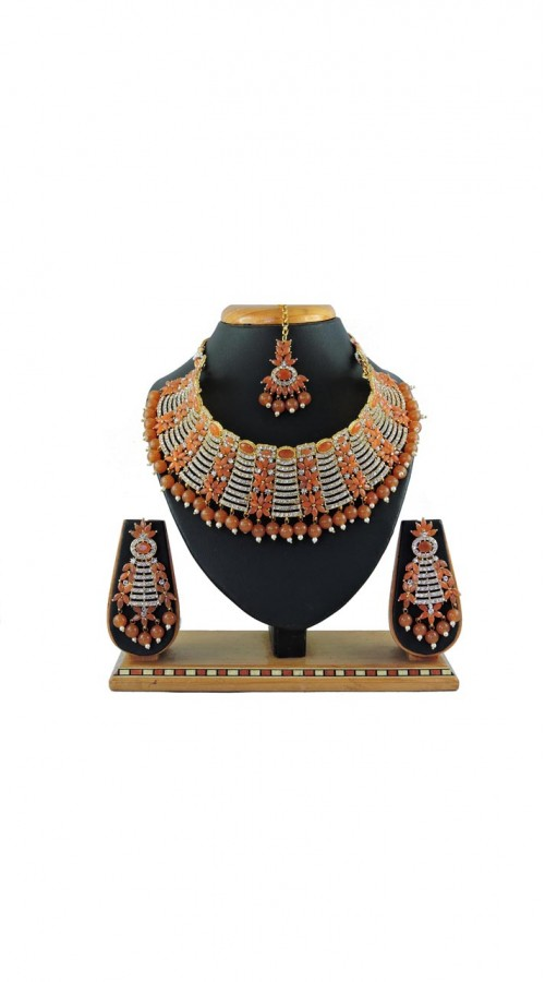 Imitation Brown Jewellery-Necklace Set ROT9296110003