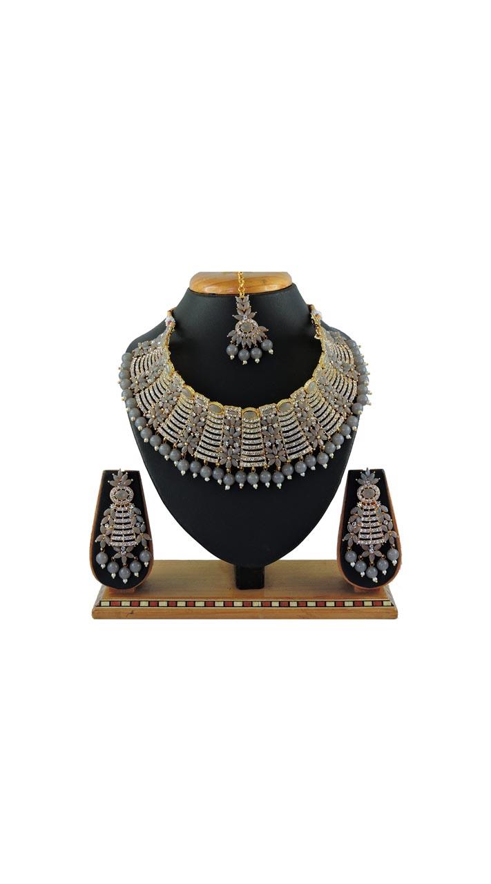 Imitation Grey Jewellery-Necklace Set ROT9296110004