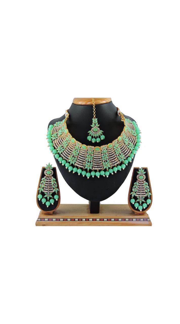 Imitation light Green Jewellery-Necklace Set ROT9296110005
