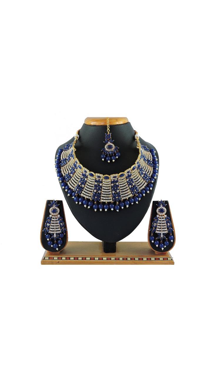 Imitation Blue Jewellery-Necklace Set ROT9296110007