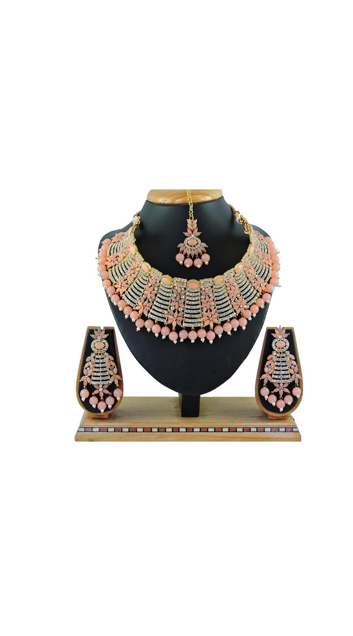 Imitation Peach Jewellery-Necklace Set ROT9296110008