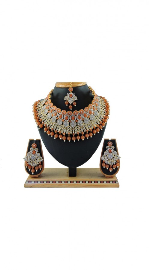 Imitation Brown Jewellery-Necklace Set ROT9296110009