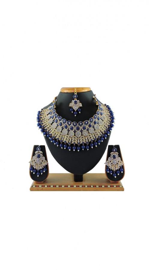 Imitation Blue Jewellery-Necklace Set ROT9296110012