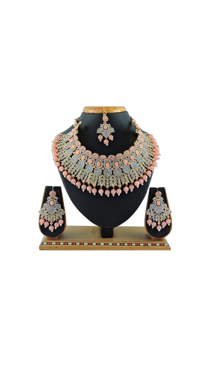 Imitation Peach Jewellery-Necklace Set ROT9296110013