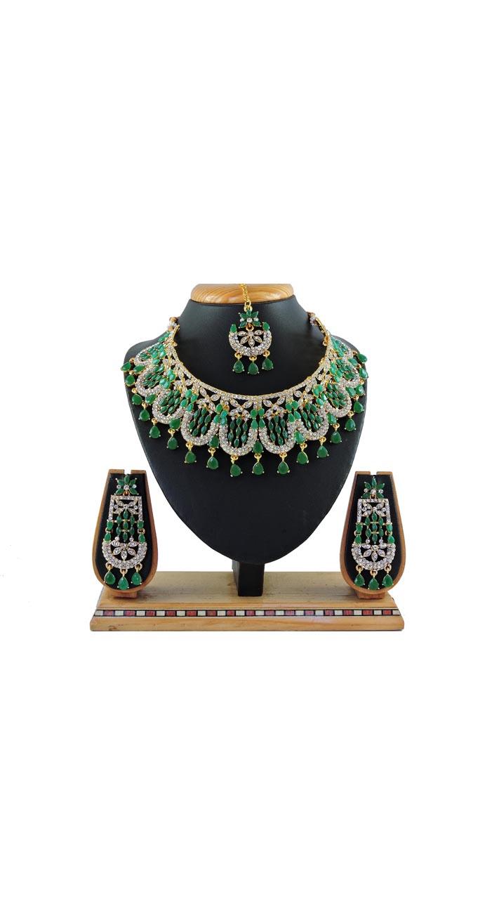 Imitation Green Jewellery-Necklace Set ROT9296110015