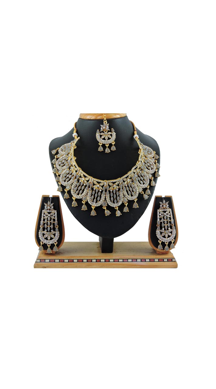 Imitation Grey Jewellery-Necklace Set ROT9296110016