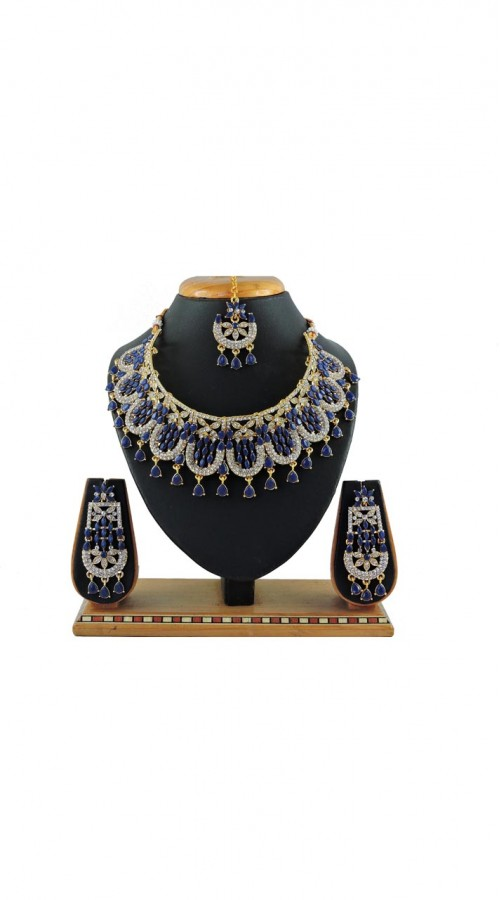 Imitation Blue Jewellery-Necklace Set ROT9296110019