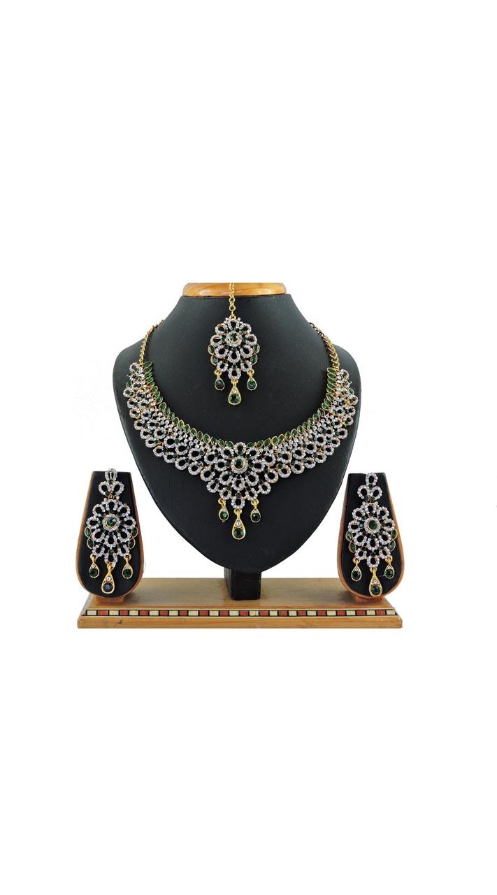 Imitation Green Jewellery-Necklace Set ROT9296110023