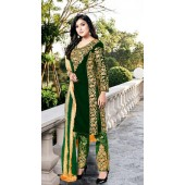 Heavy Designer Party Wear Heavy 9000 Velvet Green Salwar Suit ROT9307110093