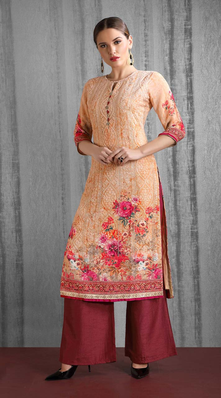 Heavy Designer party wear Readymade Mix Print suit ROT9310110140