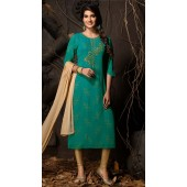 Heavy Designer party wear Readymade Green suit ROT9310110142