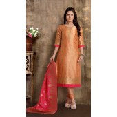 Heavy Designer party wear Readymade Light Peach suit ROT9310110145