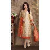 Heavy Designer party wear Readymade  Beige suit ROT9310110147