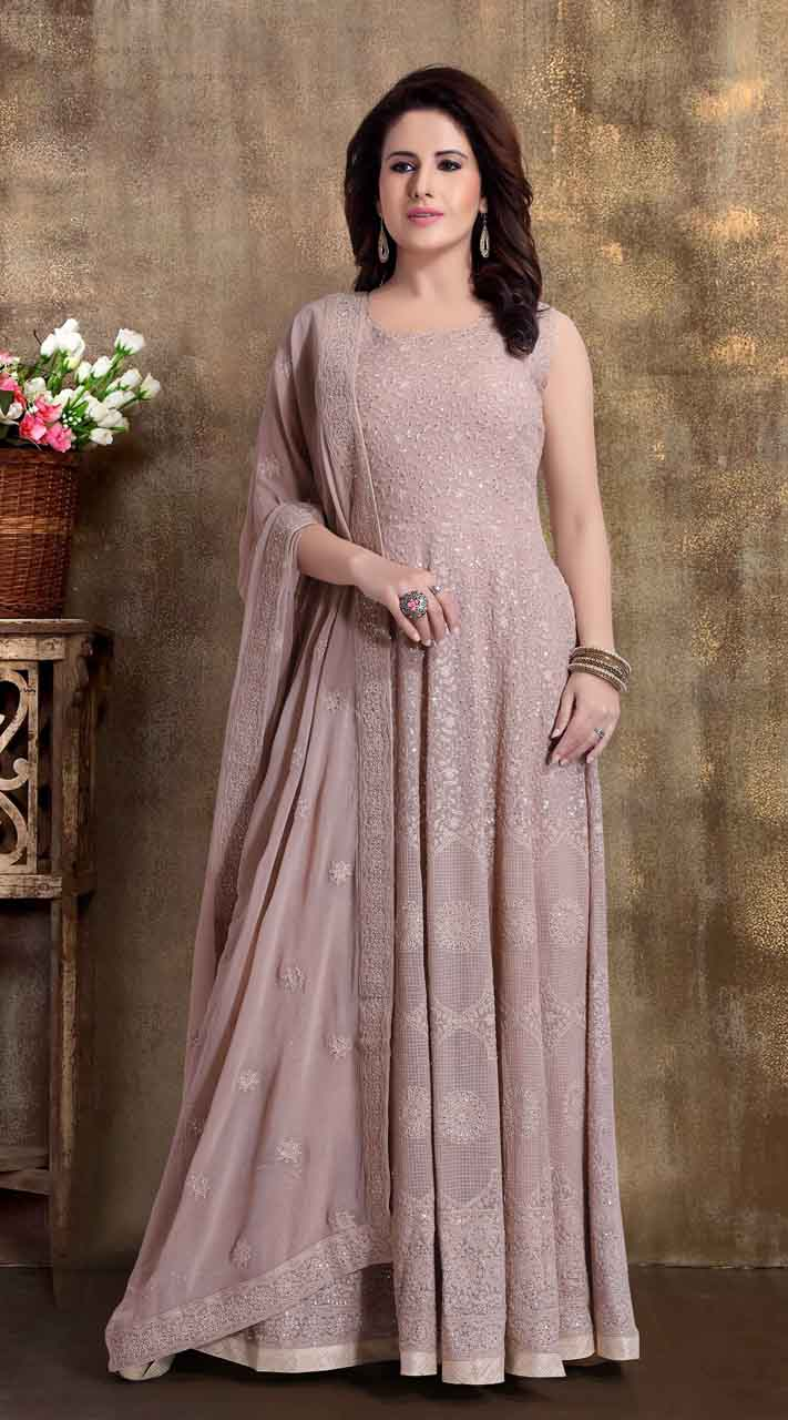 Heavy Designer party wear Readymade Light Brown suit ROT9310110151