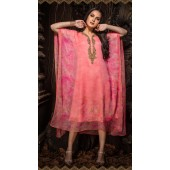 Latest Designer party wear chiffon Pink kaftan ROT9311110156