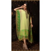 Latest Designer party wear chiffon Light Green kaftan ROT9311110157