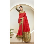 Designer Classic Party Wear Red Silk Saree ROT9313110167