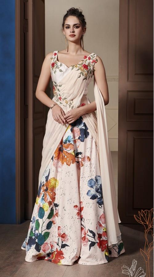 VTNSP-1301 Ready made Drape Gown