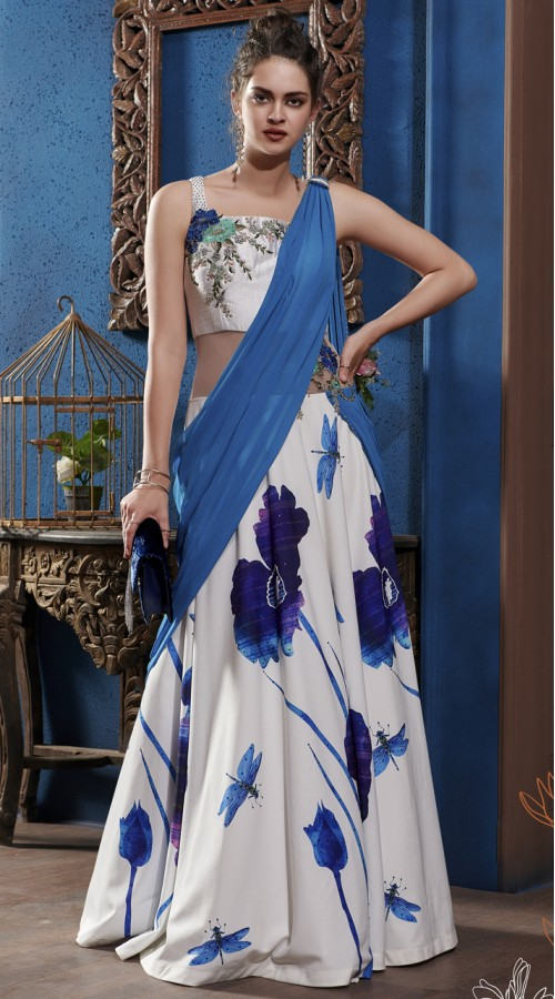 VTNSP-1304 Ready made Drape Gown